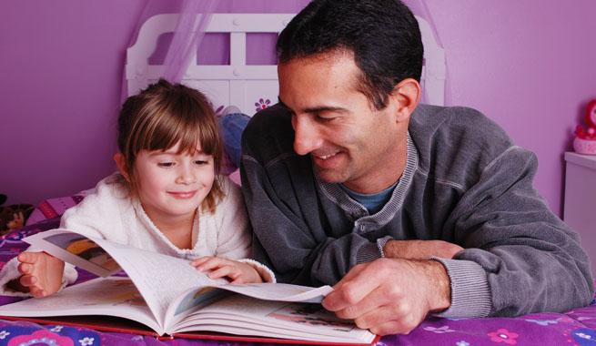 Papa lee un cuento