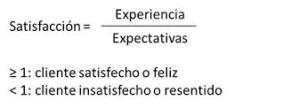 formula de satisfacción